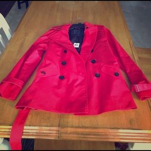 NEVER WORN WITH TAGS: Watermelon Red Coach Jacket